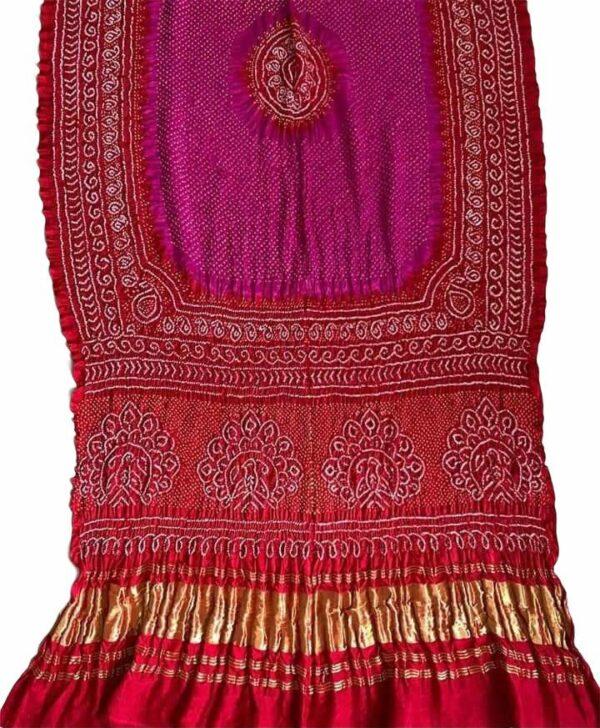 Gaji silk Rai Bharti Bandhej