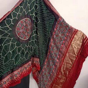 Pure Gaji Silk Rai Bharti Bandhej (#7)