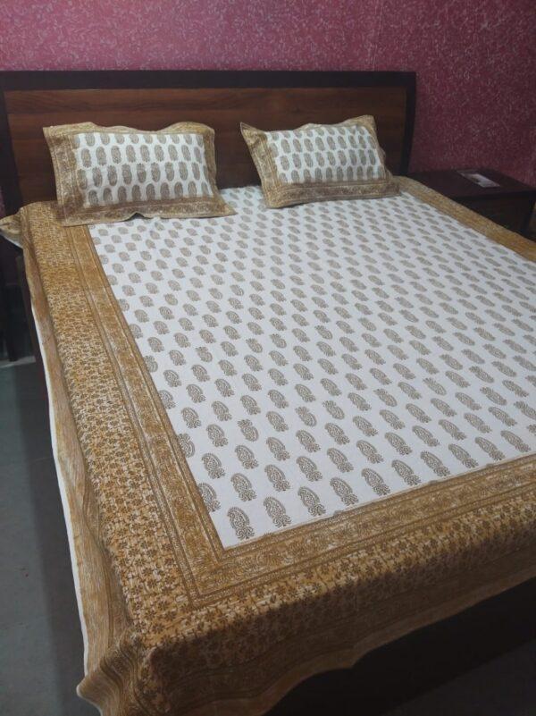 Hand block printed Bedsheets