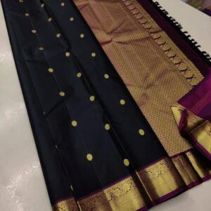 Pure Kanchipuram Silk Sarees Handwoven with 2 g Pure Jari