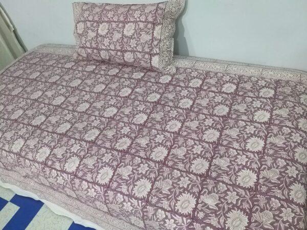 single cotton bedsheet