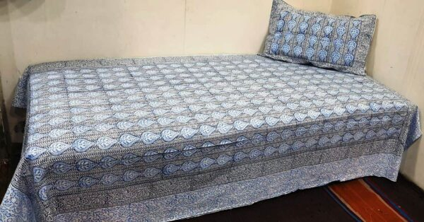 Handblock printed Cotton Bedsheet