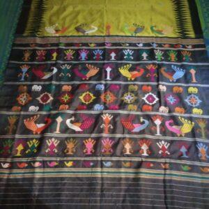Sambalpuri Handloom Ikkat Saree (#4)