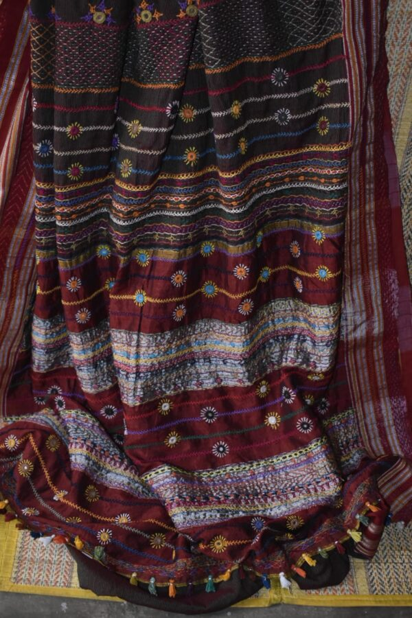 Patted anchu cotton saree
