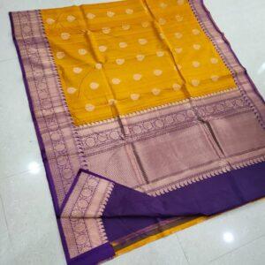Banarasi Tussar Silk Saree with Antique Zari Work