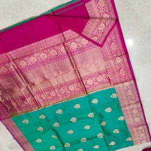 Banarasi Tussar Silk Saree with Antique Zari Work (2)