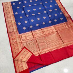 Banarasi Tussar Silk Saree with Antique Zari Work (3)