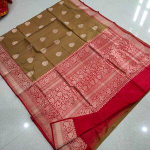 Banarasi Tussar Silk Saree with Antique Zari Work (4)
