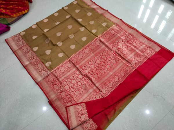 Pure Banarasi Tussar Silk Saree with Antique Zari Work