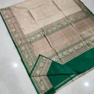 Banarasi Tussar Silk Saree with Antique Zari Work (5)