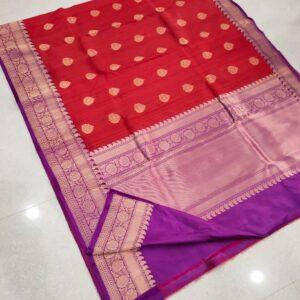 Banarasi Tussar Silk Saree with Antique Zari Work (7)