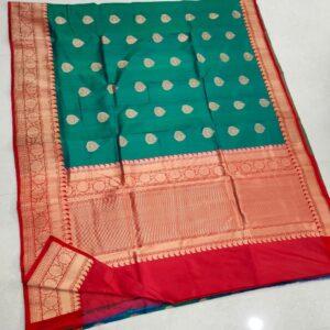 Banarasi Tussar Silk Saree with Antique Zari Work (8)