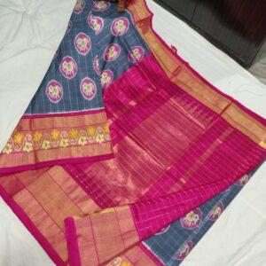 Ikkat Silk Saree (12)