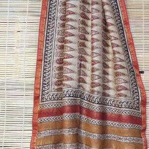 Maheshwari Handloom Bagha Print Saree (14)