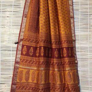 Pure Maheshwari Handloom Saree #17