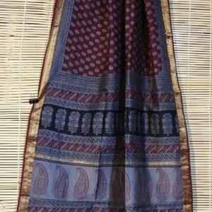 Pure Maheshwari Handloom Saree #1