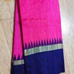 Pure Raw  Silk Saree With Temple Border (14)