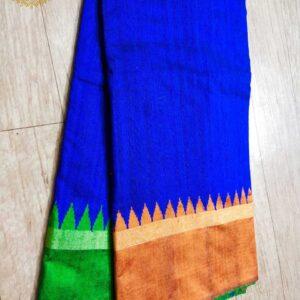 Pure Raw  Silk Saree With Temple Border (16)