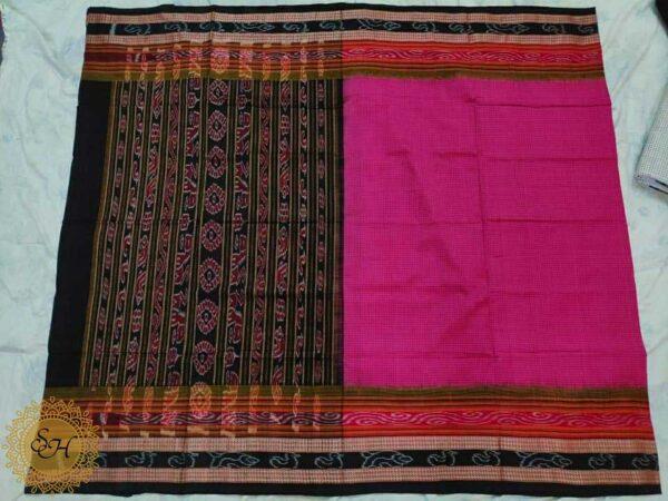 Sambalpuri handloom full body double Ikkat Sachipar Cotton saree but without blouse