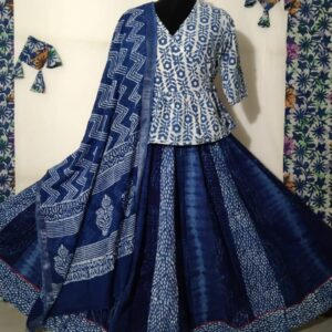 Hand Block Printed Top and Skirt (#18)