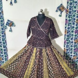 Hand Block Printed Top and Skirt (#16)