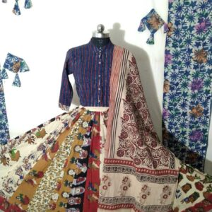 Hand Block Printed Top and Skirt (#12)