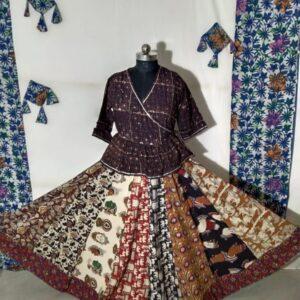Hand Block Printed Top and Skirt (#8)