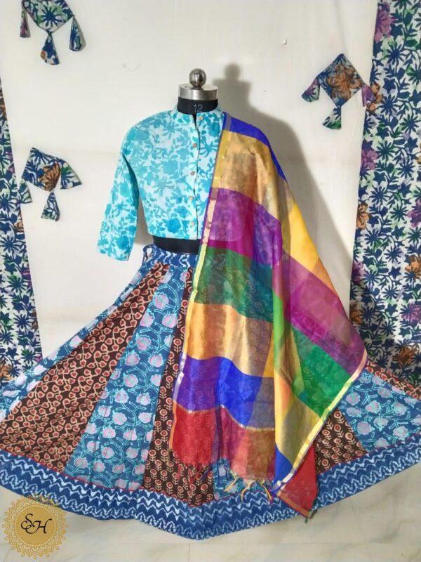 Top and Skirt Hand Block print
