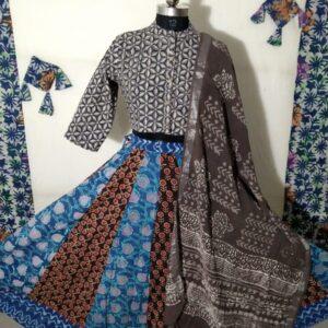 Hand Block Printed Top and Skirt