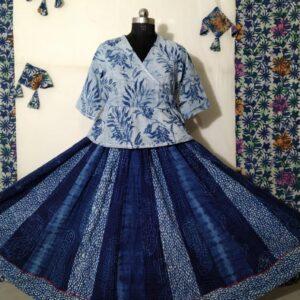 Hand Block Printed Top and Skirt (#24)