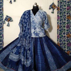 Hand Block Printed Top and Skirt (#21)