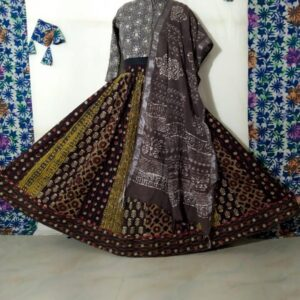 Hand Block Printed Top and Skirt (#20)