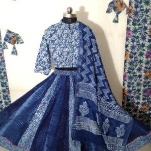 Hand Block Printed Top and Skirt (#19)