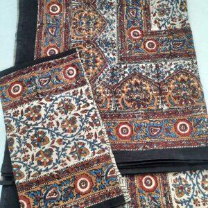 Beautiful Kalamkari Print Double bedsheet with 2 pillow covers